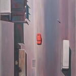 coche-rojo-desde-arriba-120x130-cms-acrylic-on-canvas