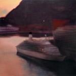 barco-en-atardecer-rojizo-150-x-150-cms-acrylic-on-canvas